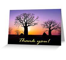 A Kimberley Thank You Greeting Card