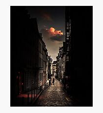 Red cloud in Paris (France) Photographic Print