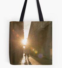 Famous fashion shopping street Tote Bag