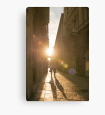 Famous fashion shopping street Canvas Print
