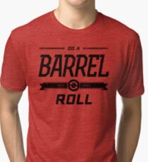 Star Fox 64 - Do A Barrel Roll Official Tee (Black) Tri-blend T-Shirt