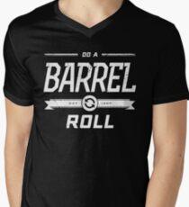 Star Fox 64 - Do A Barrel Roll Official Tee (White) Men's V-Neck T-Shirt
