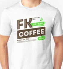 Deadly Premonition - FK In The Coffee Official Tee (Brown / Green) Unisex T-Shirt