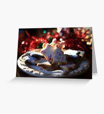 Christmas cookies for Santa Greeting Card