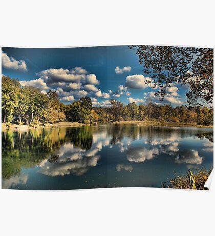 Spring River Autumn Poster