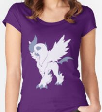 Mega Absol Minimalist Women's Fitted Scoop T-Shirt