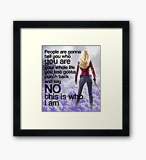 Emma Quote poster Framed Print