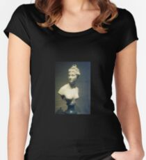 Woman Bust Sculpture  Women's Fitted Scoop T-Shirt