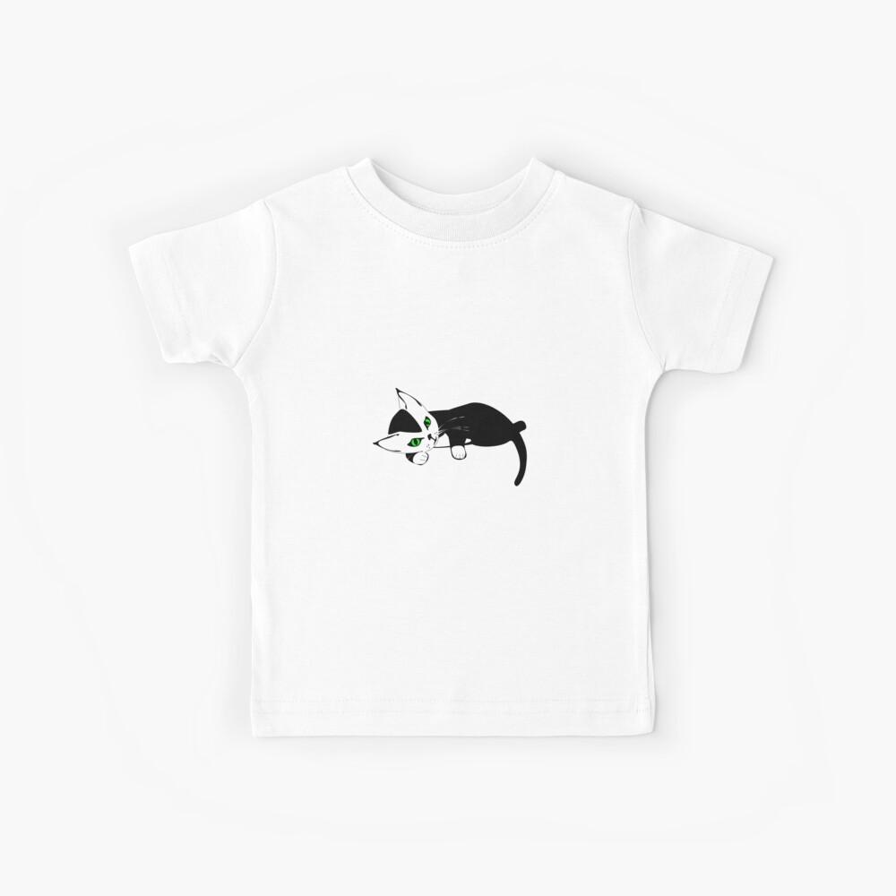 Black and White Kitten Camiseta para niños