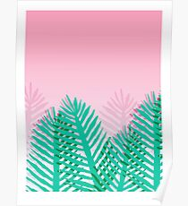 So Fine - palm springs abstract neon 1980s style retro throwback art with palm indoor house plant  Poster