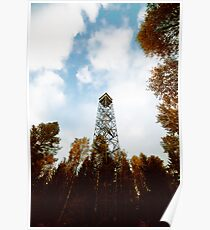 a tower in the forest Poster