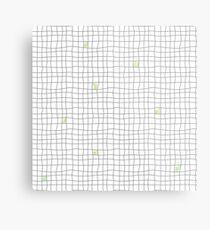 Carreaux - Grey/Green Metal Print