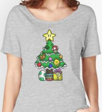Super Mario - Mushroom Kingdom Christmas (Old) Women's Relaxed Fit T-Shirt