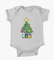 Super Mario - Pilzreich Weihnachten (alt) Baby Body Kurzarm
