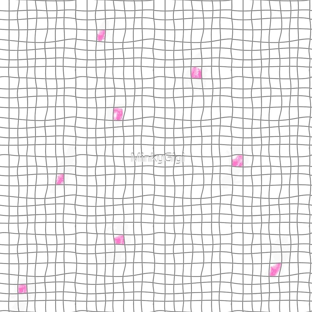 Carreaux - Grey/Pink by MinkyGigi