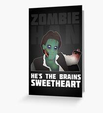 Zombie Han Grußkarte