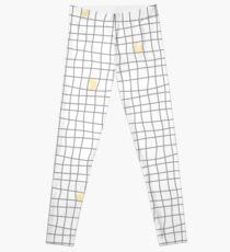 Carreaux - Grey/Yellow Leggings