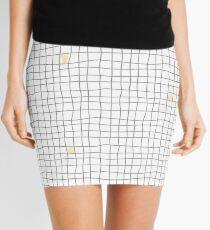 Carreaux - Grey/Yellow Mini Skirt