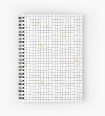 Carreaux - Gris / Jaune Cahier à spirale