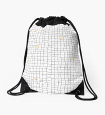 Carreaux - Grey/Yellow Drawstring Bag