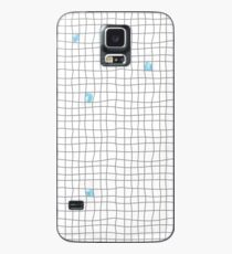 Carreaux - Grey/Blue Case/Skin for Samsung Galaxy