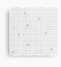 Carreaux - Grey/Blue Metal Print
