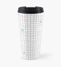 Carreaux - Grey/Blue Travel Mug