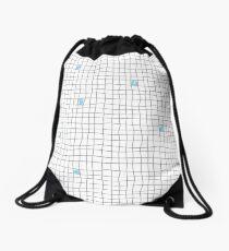 Carreaux - Grey/Blue Drawstring Bag