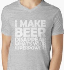 I make beer disappear, what's your superpower? Mens V-Neck T-Shirt