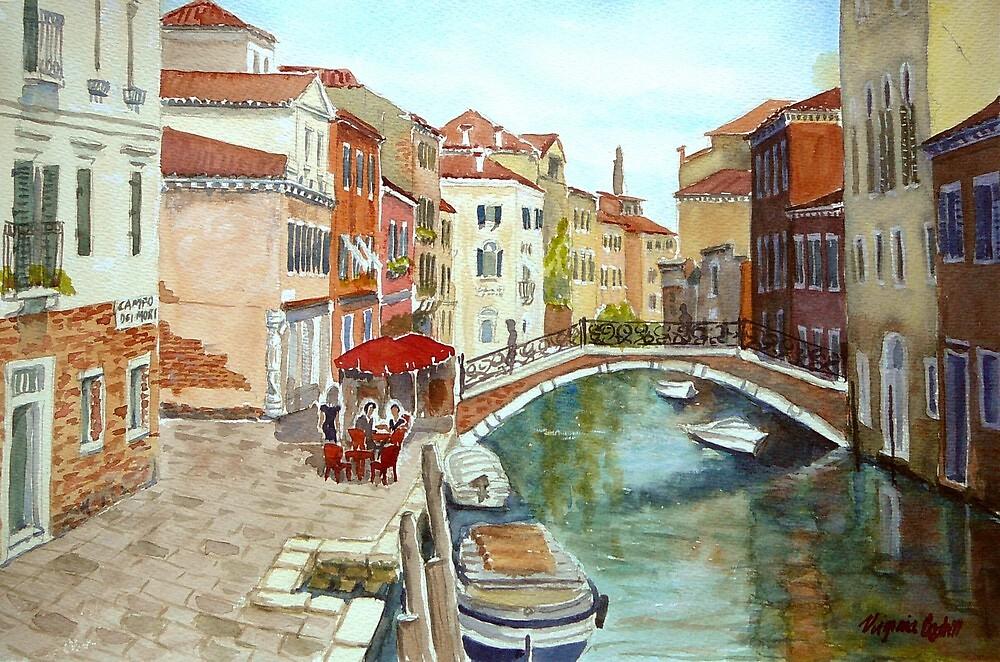Fondamenta Mori, Venice by Virginia  Coghill