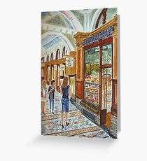 Hopetoun Tea Rooms, Block Arcade, Melbourne Greeting Card