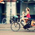 Rejecting the Automobile. Sporty Mum and Sporty Me. Amsterdam by JennyRainbow