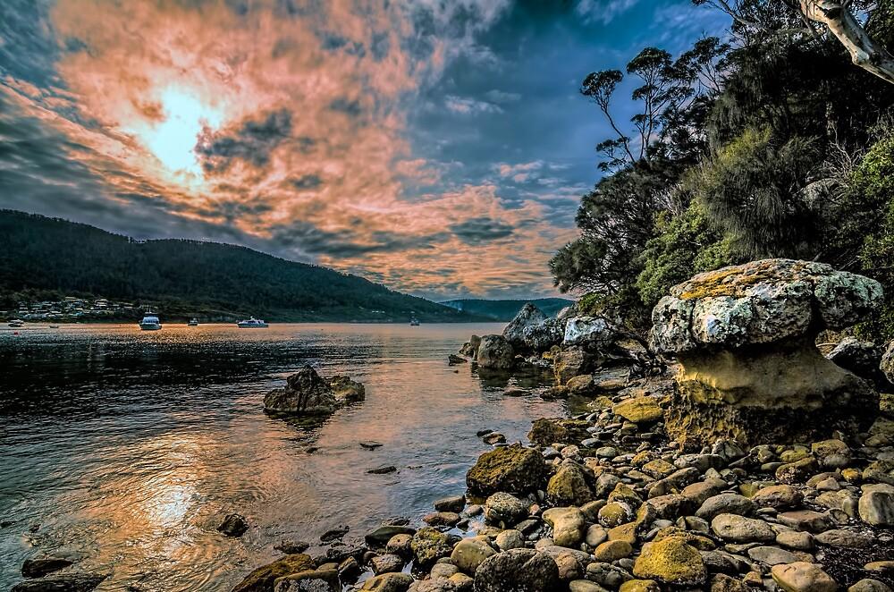 Mushroom Rock, Pirates Bay  by Robert-Todd