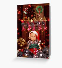 WARMEST HOLIDAY WISHES Greeting Card