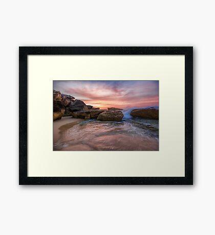 Tamarama Rocky Sunrise Framed Print