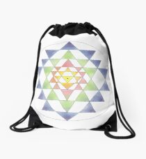 Sri Yantra 10 Drawstring Bag