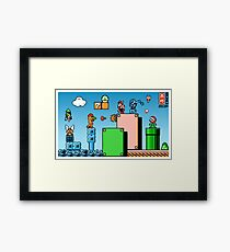 Retro childhood mashup Framed Print