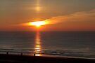 Sunset North Sea by Jo Nijenhuis