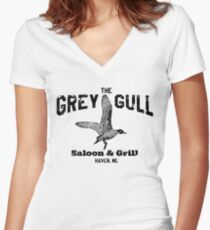 The Grey Gull Women's Fitted V-Neck T-Shirt