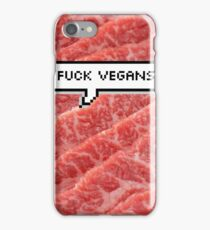 Fuck Vegans iPhone Case/Skin