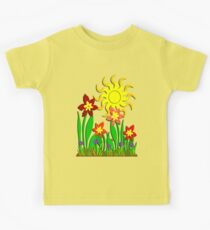 Fanciful Flowers Kids Tee