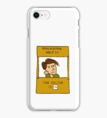 the doctor is in, doctor who peanuts cross over iPhone Case/Skin