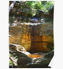 Old Mans Cave - Hocking Hills Ohio Poster