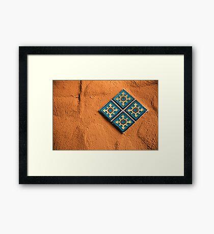 Tile and Error Framed Print