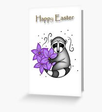 Easter Raccoon Greeting Card