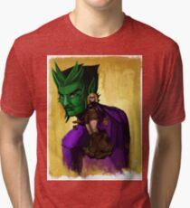 Evil Terra-forming With Beast boy Tri-blend T-Shirt