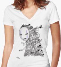 Hayao Miyazaki Tribute #2 Women's Fitted V-Neck T-Shirt