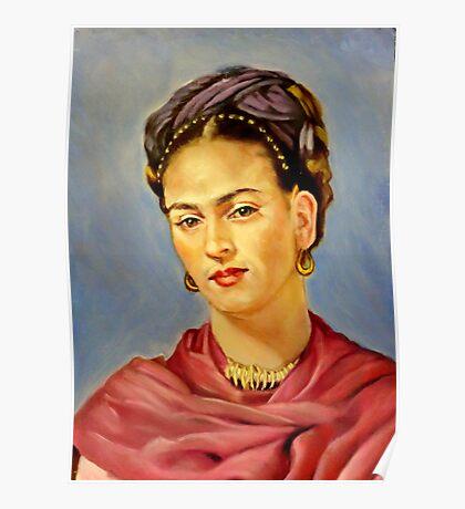 portrait of Frida Kahlo Poster