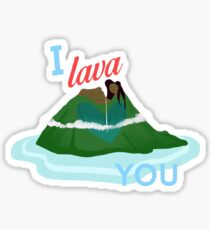 I Lava You Sticker