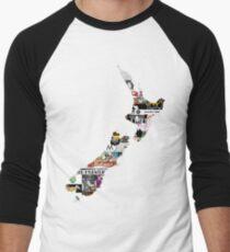 NZ Craft Beer Men's Baseball ¾ T-Shirt